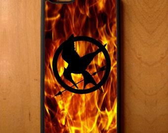 Hunger Games Movie Mocking Jay Symbol Print Phone Case Samsung Galaxy S6 S7 S8 Note Edge Apple iPhone 4 5 5S 5C 6 6S 7 SE Plus + LG G3 skin