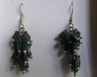 Material recovery, recycling vintage costume jewelry earrings years 70