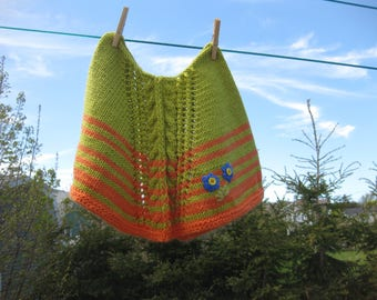 Sunny Handknitted Girl's Poncho