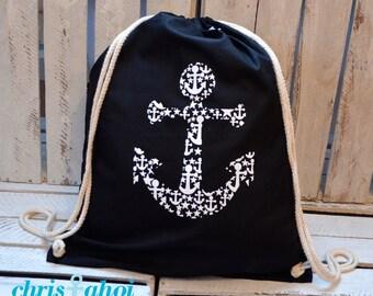 Turnbüdel / Gymbag anchor Ahoy white