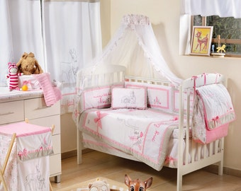 Pink Dearest Bambi 4 Pc Crib Bedding Set