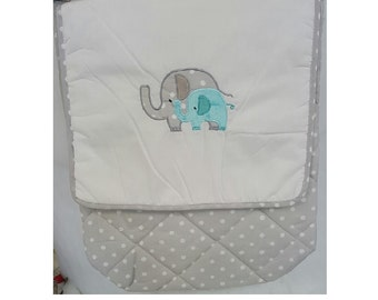 Green Elephant Diaper Bag
