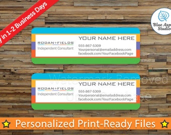 Rodan and Fields Label Sticker Printable Return Address Label Logo Digital Printed Personalized Name Custom PDF Sticker Vistaprint RDF-AL102