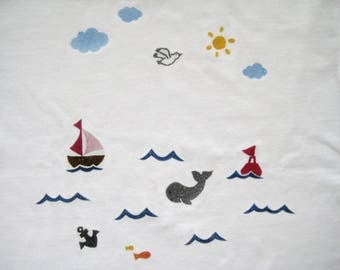 T shirt kids sea 92-104 can be customized