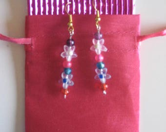 Flowers, Beads, Earrings, Jewellery