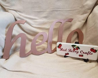 Hello Sign - Wall Hanging - Wooden Sign - Home Decoration