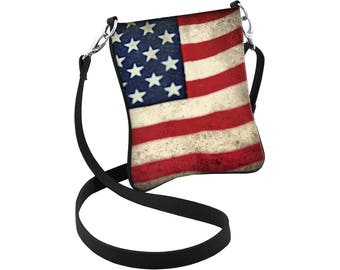 American Flag Crossbody Bag, Patriotic Hipster, American Flag Purse, Patriotic Bag, 4th of July Swag, USA Purse, Military Mom