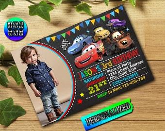 Disney Cars Invitation / Disney Cars Birthday / Disney Cars Party / Disney Cars Printable / Disney Cars Birthday Invitation / Disney Cars