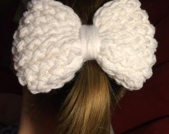 Knitted Bow Hair Ties