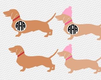 Dog svg, Dachshund svg, Christmas svg, Dachshund silhouette, Dachshund clipart, Dog clipart, Cricut, Cameo, Clipart, Svg, DXF, Png, Pdf, Eps