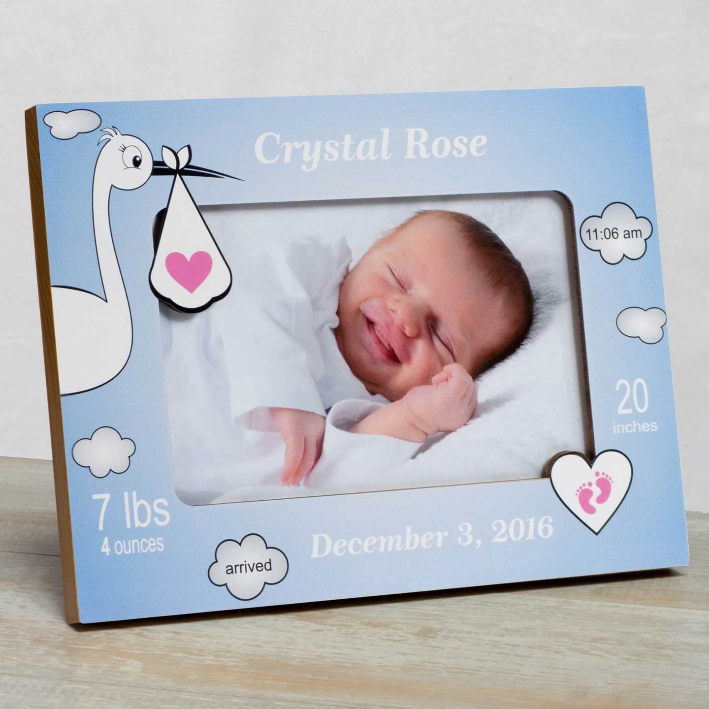 Personalized Baby Picture Frame Baby Girl Picture Frame