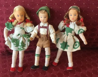 Vintage Erna Meyer dollhouse dolls