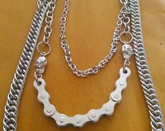 Great Long Silver Biker Chain.