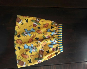 Hand Sewn Fall patterned skirt