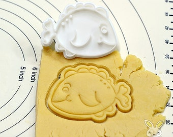 Cute Fish Cookie Cutter and Stamp