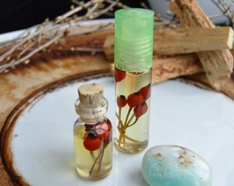 "Essential oil ""Plumeria""-roll on/talisman and amulet necklace"