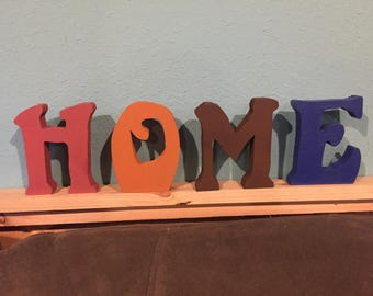 Home Hand Painted wood letters