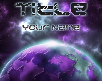 Pre-made eBook cover for sci-fi writers, personalised digital download - Horizon
