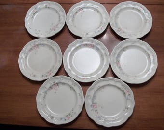 Pfaltzgraff Tea Rose Salad Dessert Plates Lot of 8