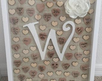 Custom Alternative Heart Wedding Guestbook
