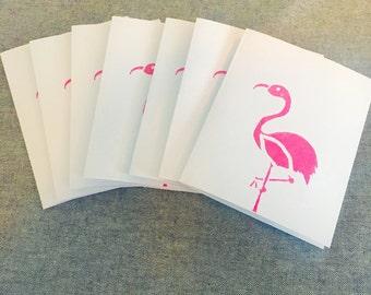 Pink Lawn Flamingo Greeting Card (set of 7)