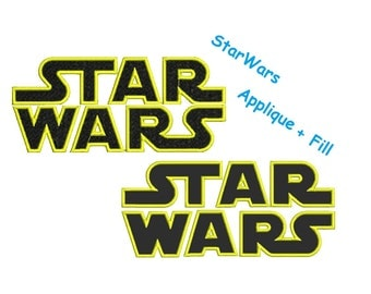 Star wars Embroidery Designs - 2 designs Star wars applique instant download