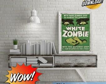 White Zombie Bela Lugosi Vintage Horror Cinema Poster Digital Art!