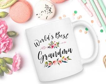 Worlds Best Grandma, Grandma Gift, Mug, World's Best Grandma, Grandma Mug, Gift For Grandma, Grandmother Gift, Grandma, Grandma Coffee Mug