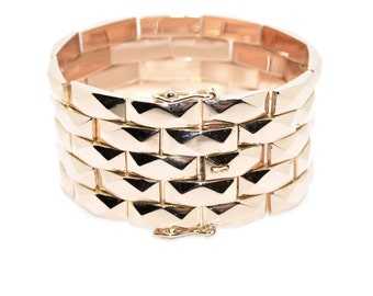 Rose gold bracelet 1940 Tank-