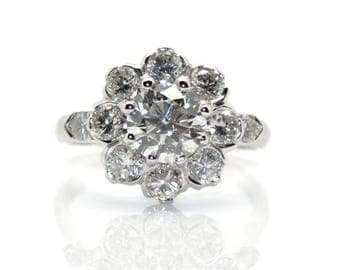 Daisy diamond ring