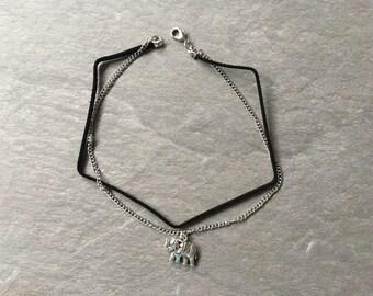 Elephant Choker necklace