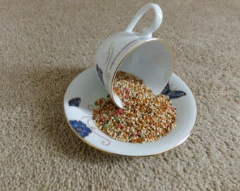 Teacup Bird Feeder,  Bird Feeder, Teacup, Bird