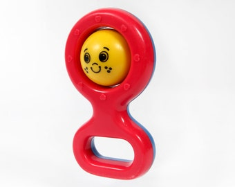Vintage baby Rattle toy-with face