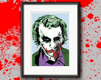 Signed & Numbered 'Zombie Joker (Heath)' Illustrated Print with COA