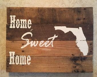 Home Sweet Home State Wall Sign - Pick Your State
