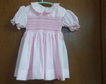 Hand-smocked child's dress