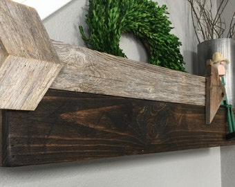 Rustic Floating Wood Shelves