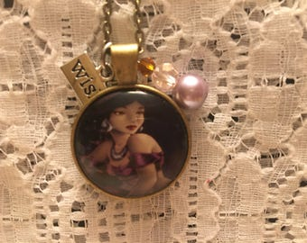 Princess Jasmine Charm Pendant Necklace