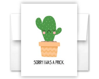 I Was a Prick Notecard