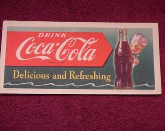 vintage coca cola ink blotter