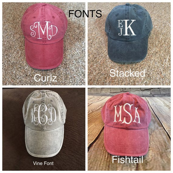 monogram wool baseball cap cheap caps monogrammed hats etsy women hat profile personalized