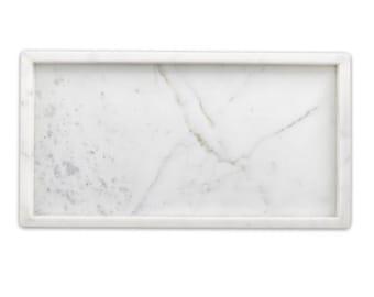 Rectangular Carrara Marble Tray