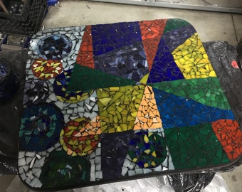 Strange Design - Stained glass Mosaic Table