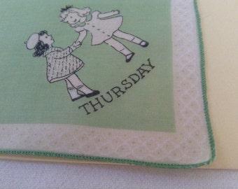 "Child's Handkerchief  ""Thursday"""