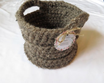 Barley*Crocheted*Basket