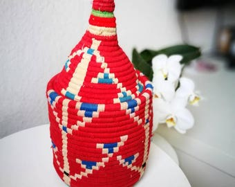 Moroccan basket berber basket storage Organizer Handmade wool