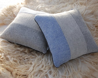 Wool cushion cover, pillow cover - Norwegian wool from Røros Tweed