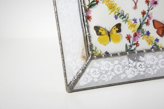 Antique lace glass picture frame table top 4x6 picture for Bungalow style picture frames