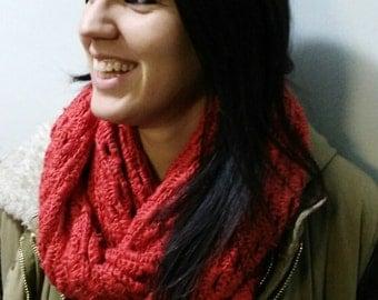neck warmer scarf orange crochet 2.40 x 21 cm made by me. Orange neck warmer scarf made by me crochet