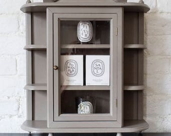 NOW SOLD*** Up-Cycled (Large) Display Cabinet Hand Painted in French Linen Chalk Paint
